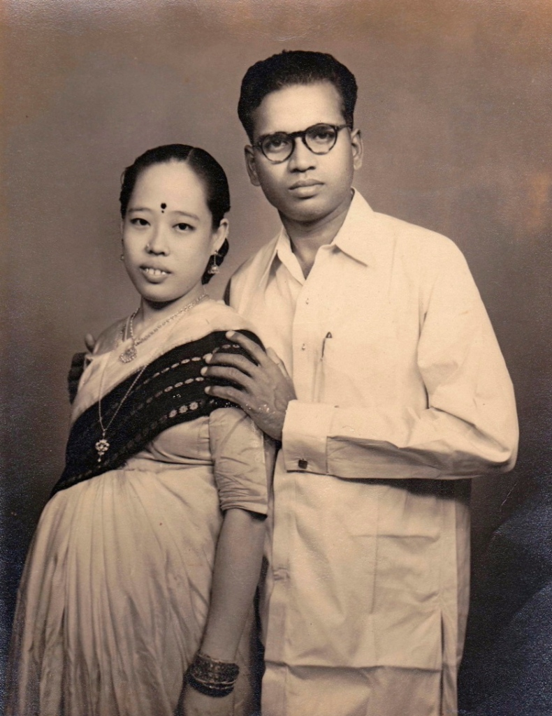 My Maternal Grandparents just after they got married. My grandmother's pregnant with my mother, in this picture.