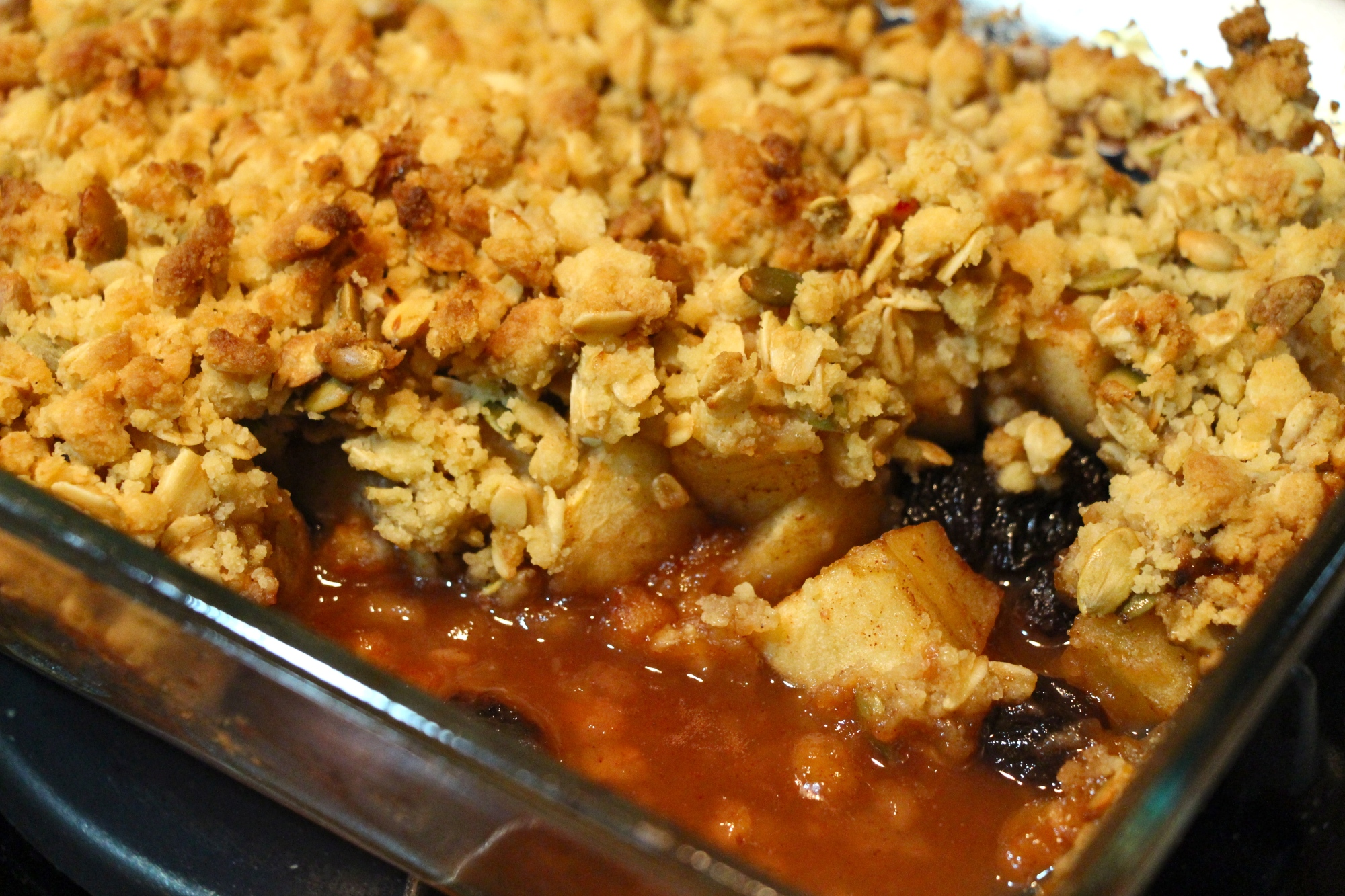 Leaner Apple Plum Crumble